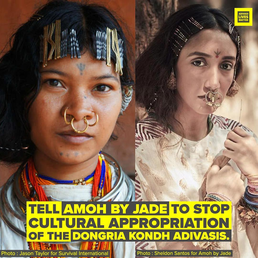 Cultural Appropriation Of The Dongria Kondh By Amoh By Jade | #AdivasiLivesMatter