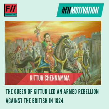 #FIIMotivation: Rani Kittur Chennamma was one of the first women freedom fighters to have fought against the British rule in India. The Queen of Kittur was one of the first Indian rulers to lead an armed rebellion against the British East India Company in 1824, against the implementation of the Doctrine of Lapse. Her rebellion against the British ended with her imprisonment, however, she became a celebrated freedom fighter in the state of Karnataka and a symbol of the independence movement in India. #IndianWomenInHistory