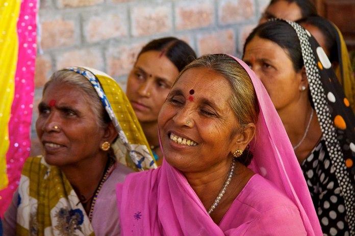 rural women of UP at a Gulabi meeting