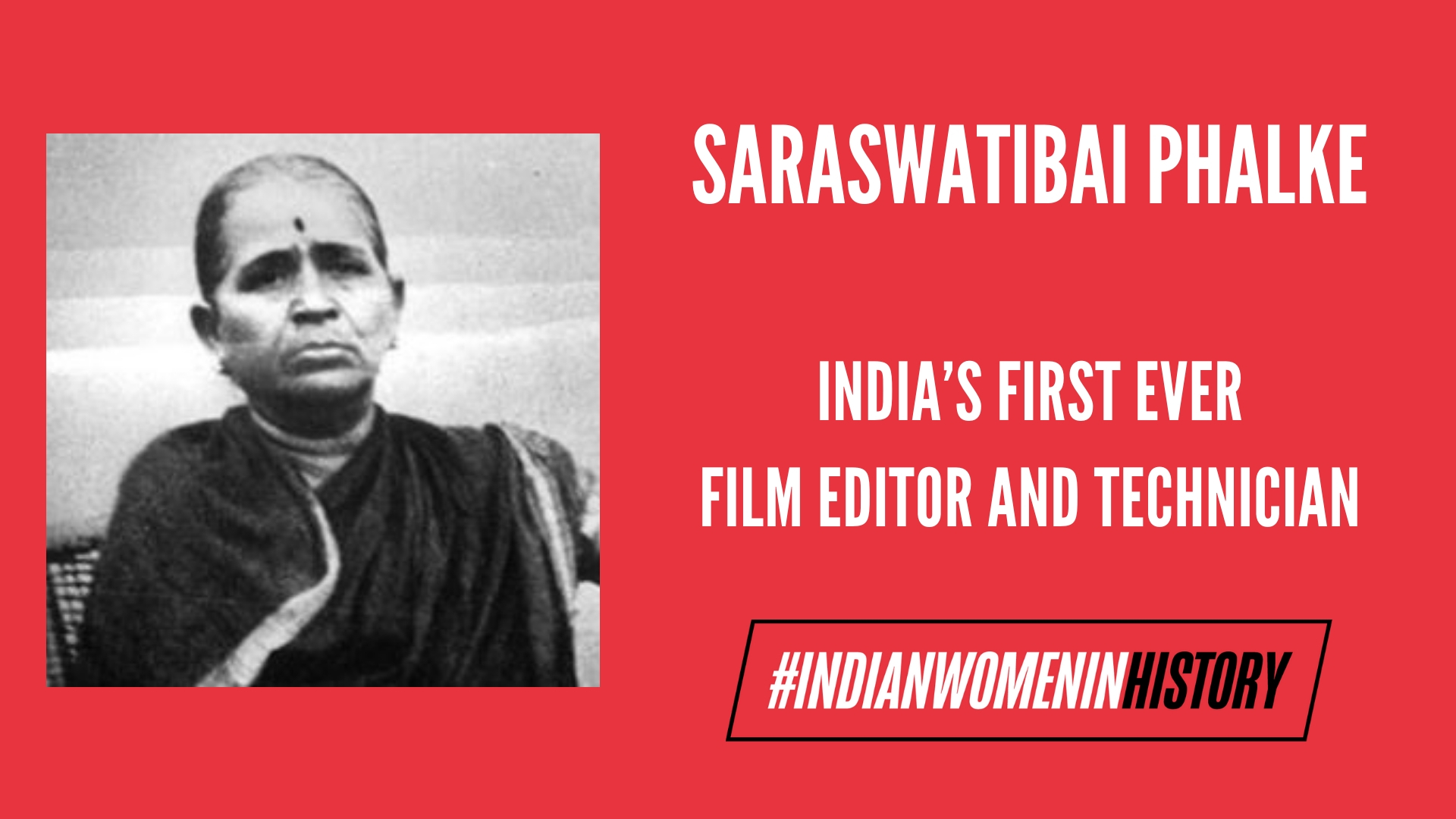 Saraswatibai Phalke: India's First Film Technician And Editor| #IndianWomenInHistory