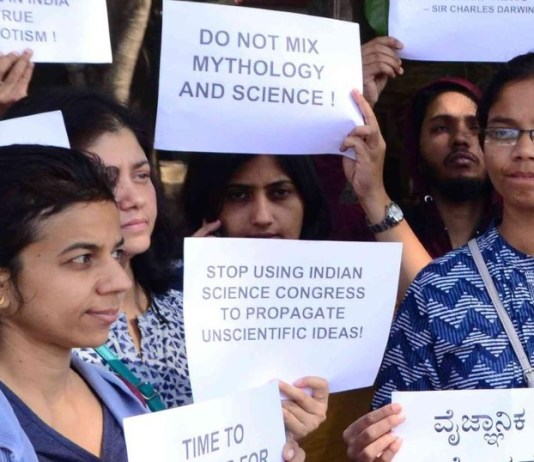 Indian Scientists Protest Against The Pseudo-Science Propagated by Indian Science Congress