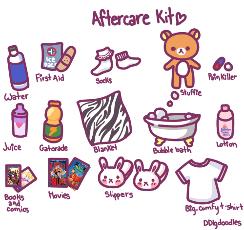 cartoon graphic of aftercare rituals