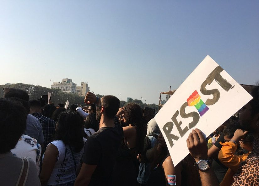Queers & Allies Oppose Sedition Charges Against 51 Individuals At Mumbai Pride