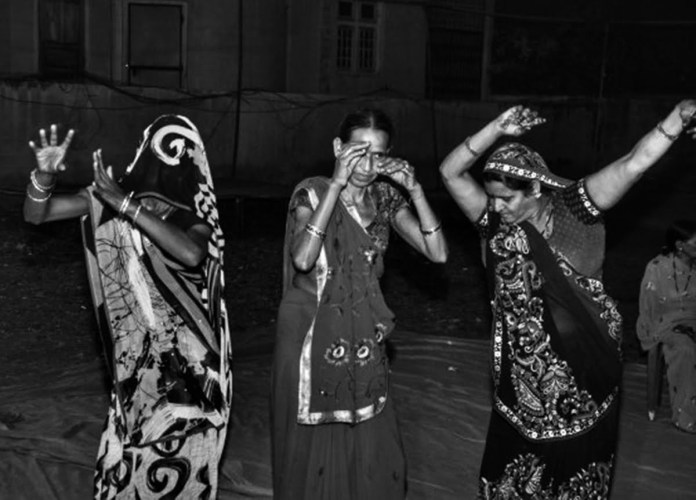 Women at Leisure: Women dancing in a wedding in presence of men in the community. It is considered immodest for daughters-in-law of the house to show their face, let alone dance, in front of men.
