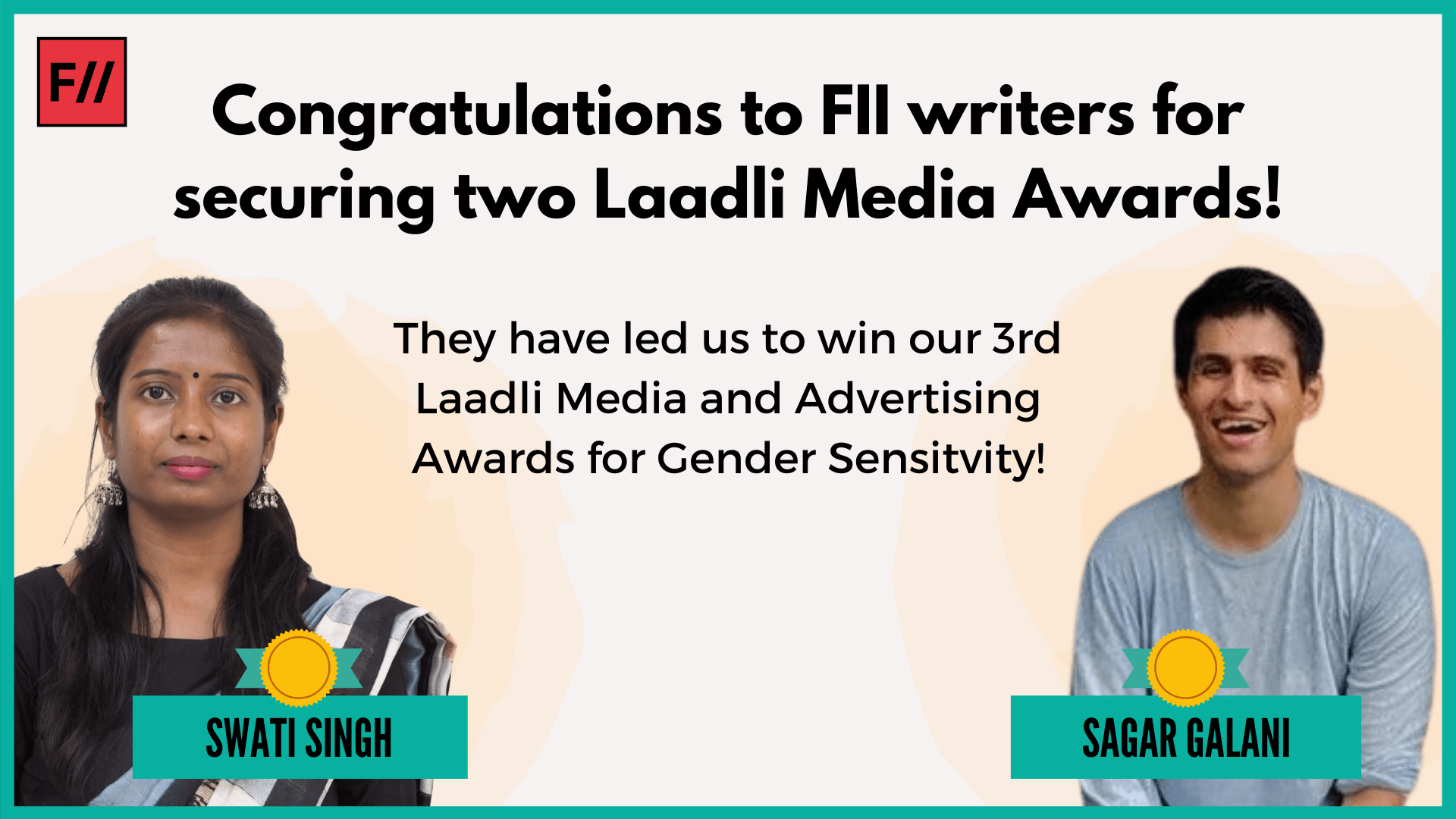 FII Won Two Laadli Media Awards for Gender Sensitivity, 2020
