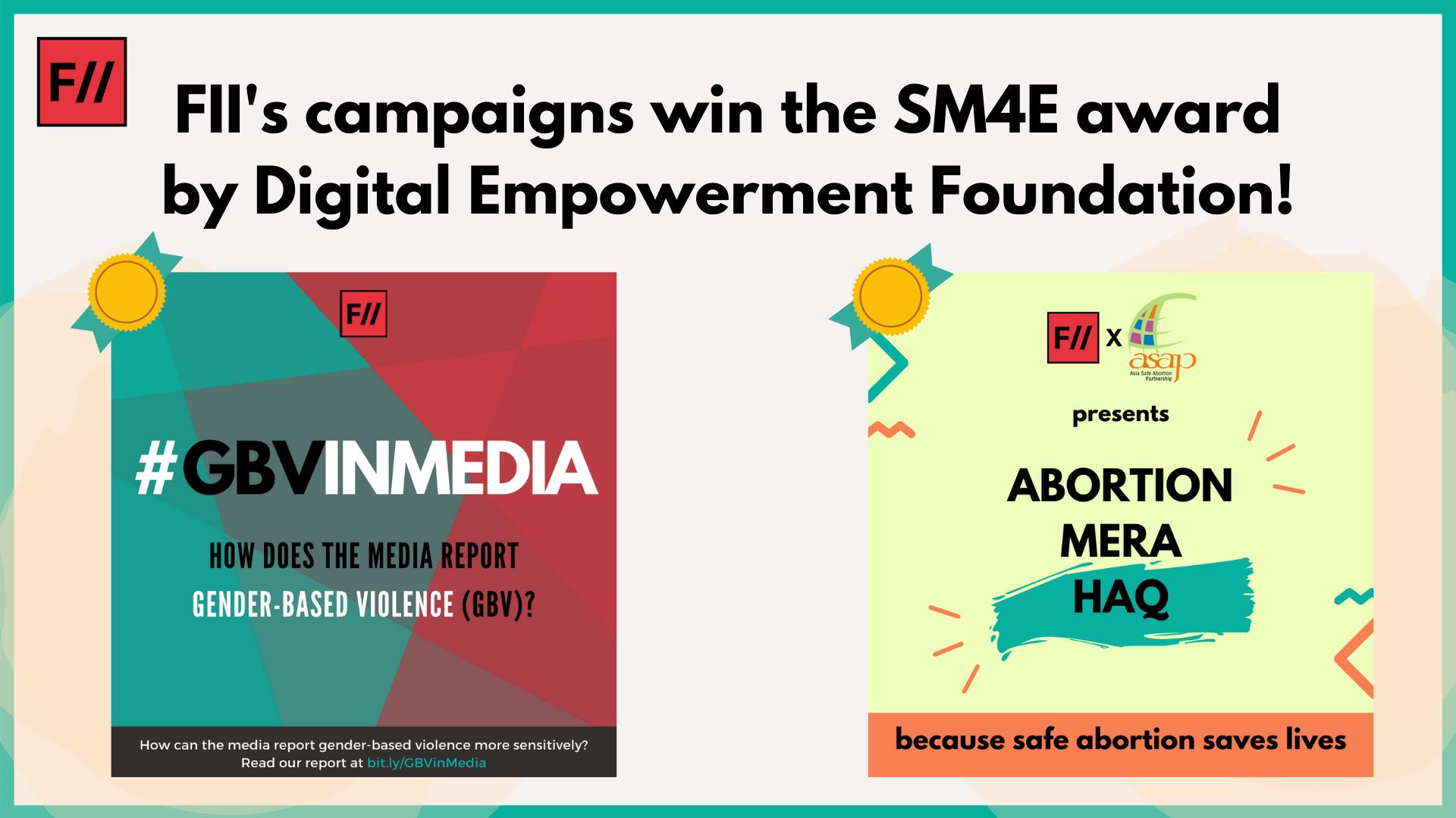 Two Of FII's Campaigns Win The SM4E Award