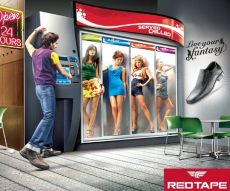 Red Tape Shoe Ad