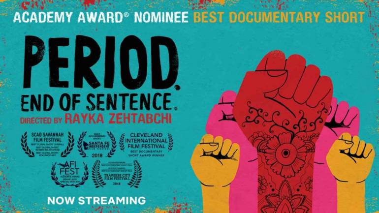poster for the film 'Period. End of sentence.'