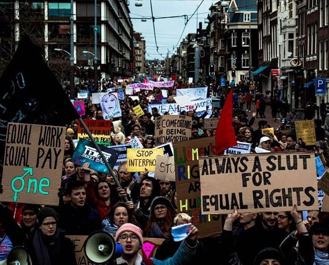 Womens March Netherlands 2019, photo of signs