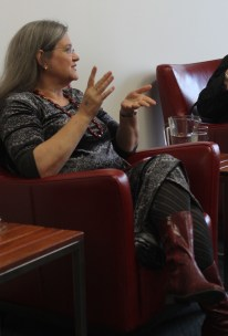 Viv Smythe in Decommodifying feminism (Photo by Clare O'Shannessy)