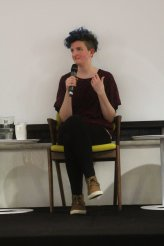 Alison Evans in Queer, transgender & feminist writing (Photo by Clare O'Shannessy)