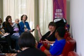 Karen Pickering (and bub), Maxine Beneba Clarke & Lefa Sington Norton in Building your feminist community