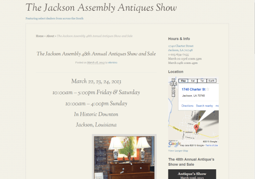 The Jackson Assembly Antiques Sale And Show