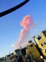 Lebanon Beirut blast smoke explosion 10.09.2020 destroyed buildings