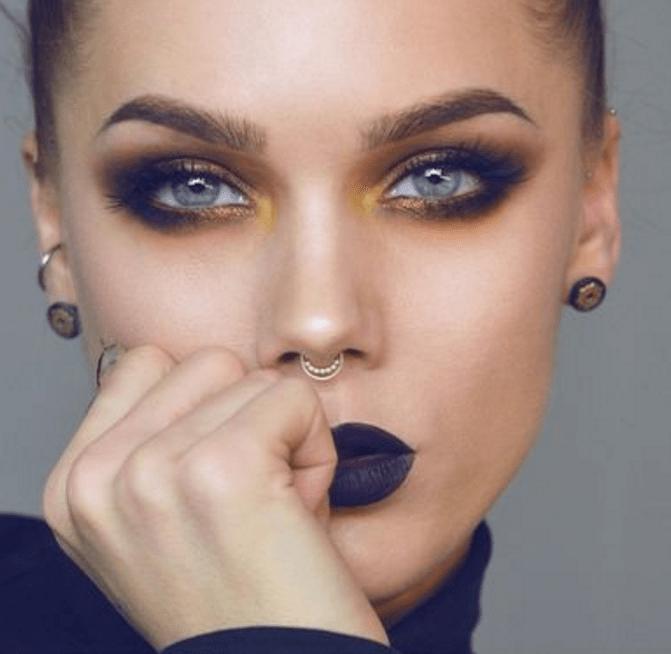 Maquillage Smoky Yeux Bleus Cool Un Maquillage Des Yeux