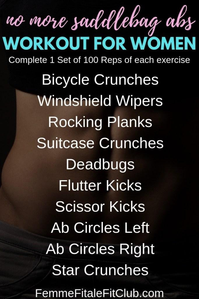 No More Saddlebag Abs Workout For Women #abs #flatabs #sexyworkout #weightlossforwomen #athomeworkoutforwomen #sexyandstrong #strongworkout #strongworkoutforwomen #calisthenics #fitness #fitfam #fatlossforw