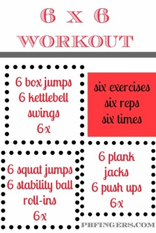 6 by 6 workout challenge