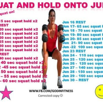 Squat and hold challenge