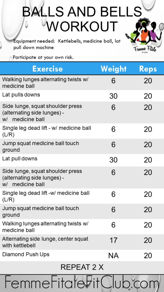 Balls and Bells #Workout