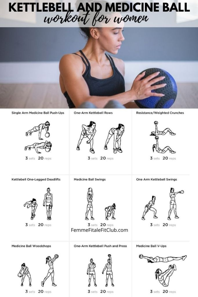 Try this medicine ball and kettlebell total body workout to build strength, burn fat and to tone.  #workout #kettlebellworkout #medicineballworkout #health #fitness