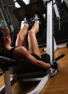 Female bodybuilder working out at the gym.  #workout