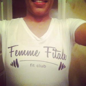 I put on my Femme Fitale Fit Club gear and just layered.
