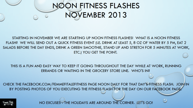 Noon Fitness Flashes
