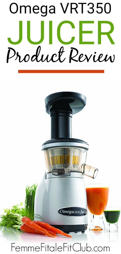 Before you pick up a juicer to make your own juice check out my review of a slow masticating Omega VRT350 juicer. #vegan #pulp #masticating #juicer #juicing #omegajuicer #juice