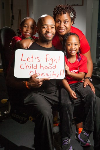 Shawn and his family help other families fight obesity.