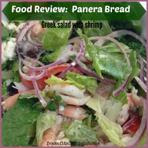 Panera Bread Greek Salad with Shrimp