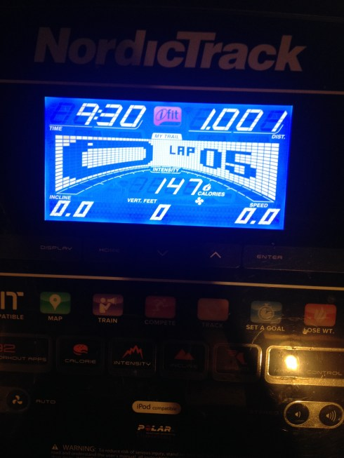 Treadmill 1 mile warm up