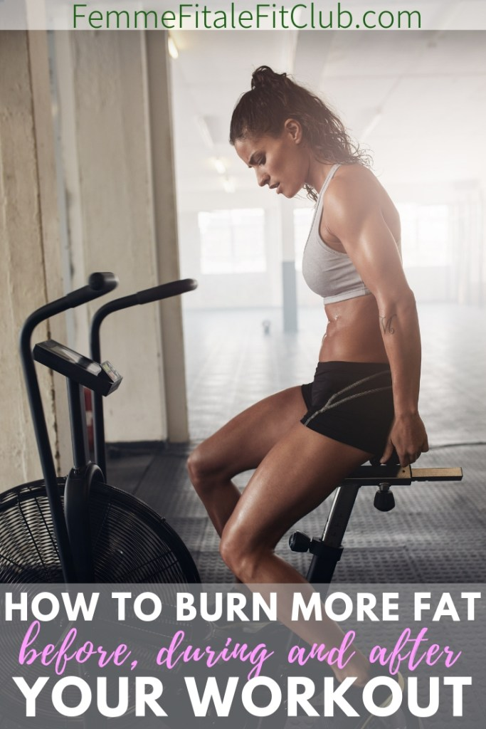 Here's how to burn more fat before, during and after your workout #hiit #intensity #burncalories #burnfat #fatburningworkout #fatburningsession