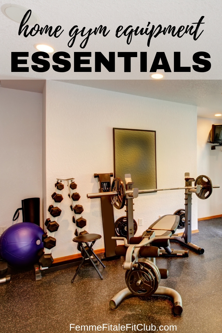 Home Gym Equipment Essentials #homegym #gym #equipment #workoutequipment #bench #swissball #handweights #workoutdvds #benchpress #fitnesstips #weightlosstips #homegymspace