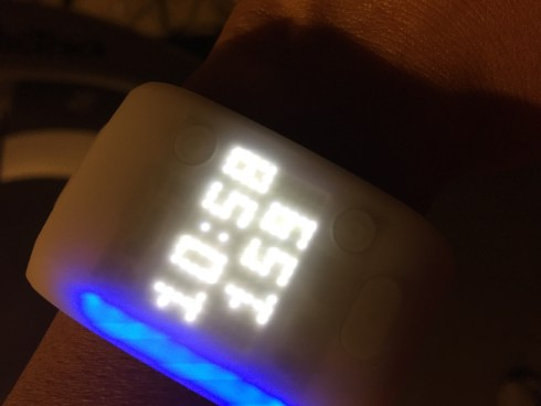 Adidas miCoach Fit Smart blue heart rate zone