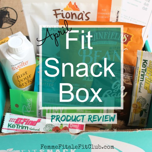 April Fit Snack Box Product Review