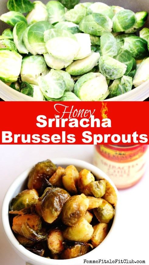 Brussels Sprouts with honey sriracha lime sauce