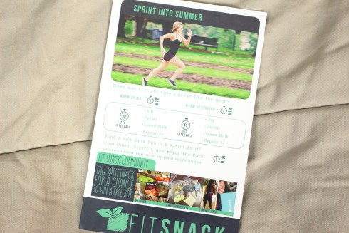 Fit Snack Box June Workout