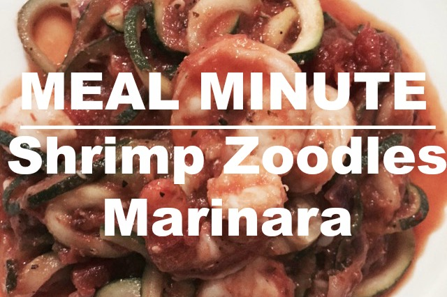 Shrimp Zoodles Marinara Meal Minute #zoodles #marinara #shrimp #healthyfood #ketodiet #ketogenicdiet #healthfood #lowcarb #nocarb