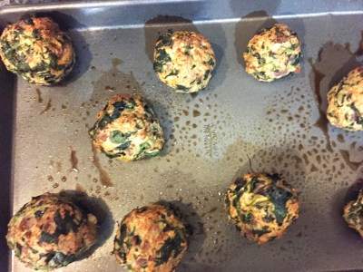 Cooked Turkey Spinach Meatballs