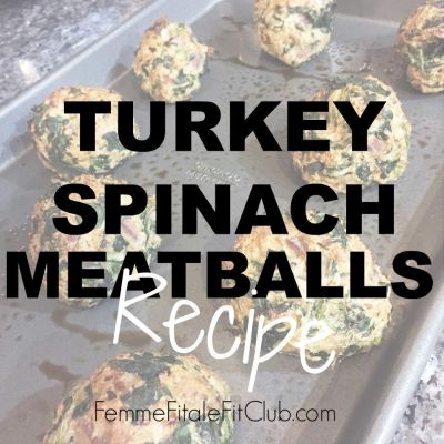 Turkey Spinach Meatballs Recipe