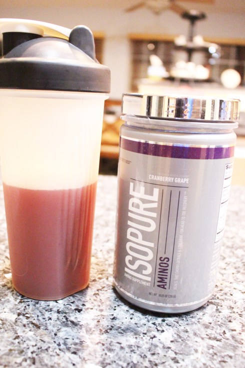 Shaker bottle and Isopure