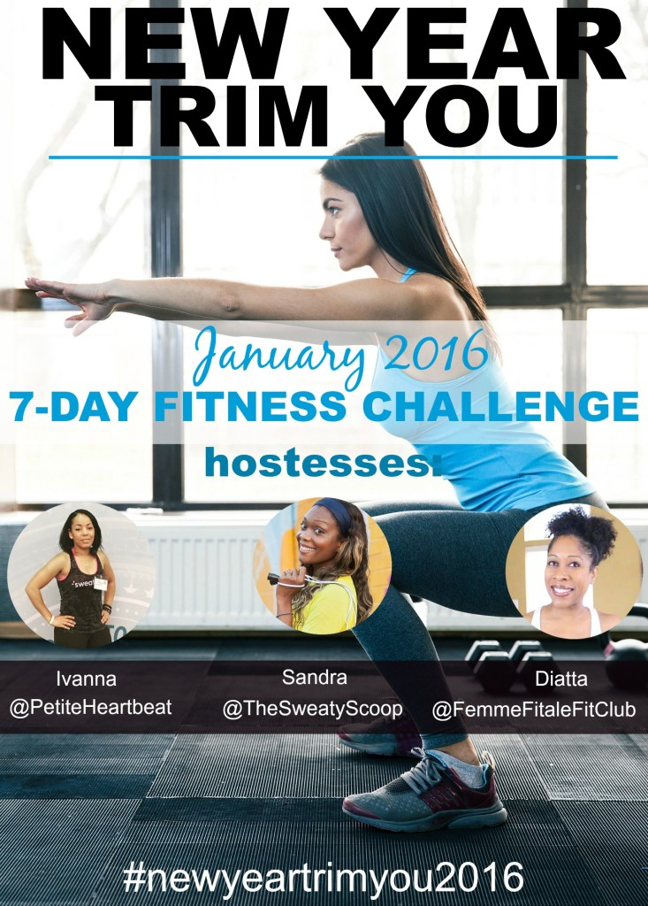 January 2016 New Year Trim You 7-Day Fitness Challenge creative