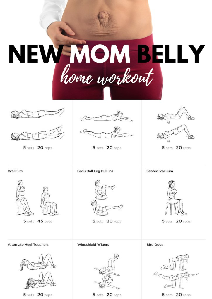If you just had a baby and looking to strengthen your core then try this new mom belly workout you can do at home. Be sure to get clearance from your physician before starting any new workout program. #noequipmentworkout #womenshealth #athomeworkout #exercise #fitness #newmomworkout #diastasisrectiworkout #bellyfat #flatbelly #getflat #flatabs #diastasisrecti  #floorworkout