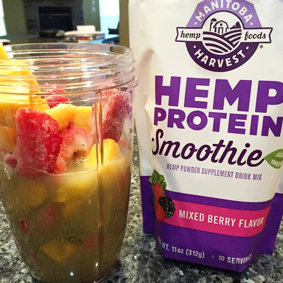 Breakfast smoothie with Hemp Protein Powder