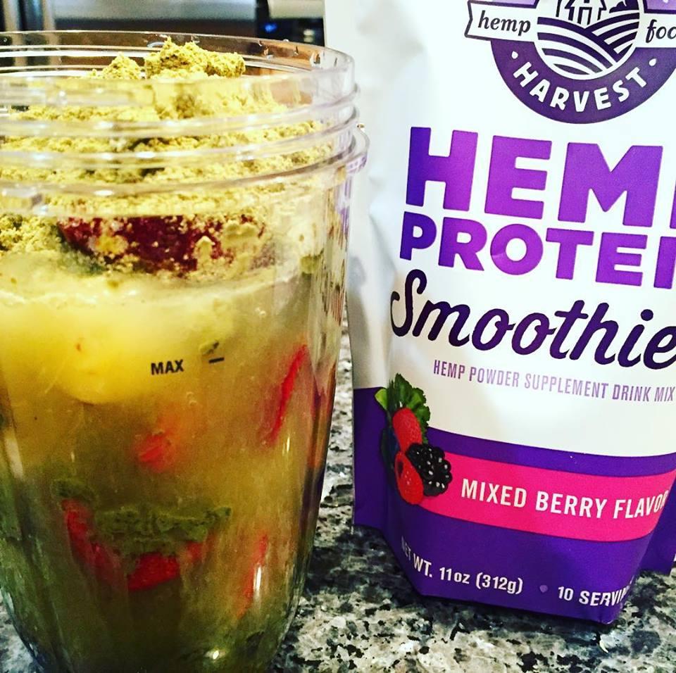 Breakfast smoothie with Hemp Protein Powder