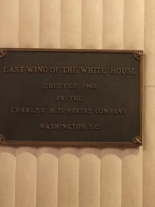 East Wing plaque