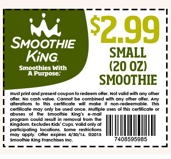Smoothie King coupon