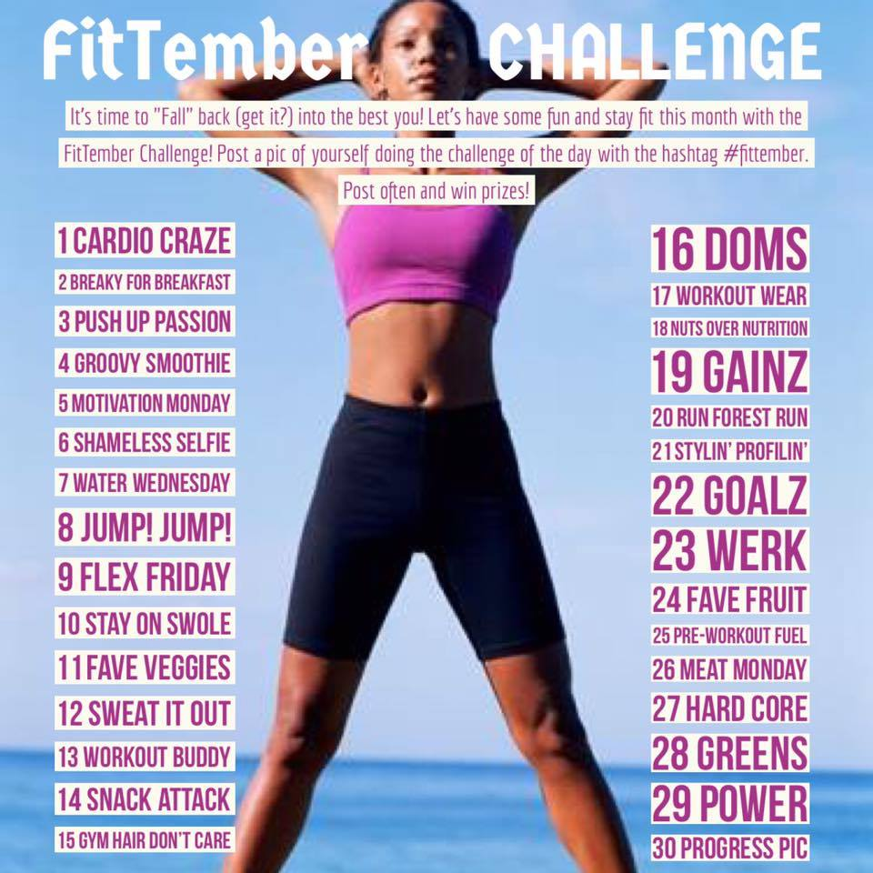 Photo-A-Day FITTEMBER flyer