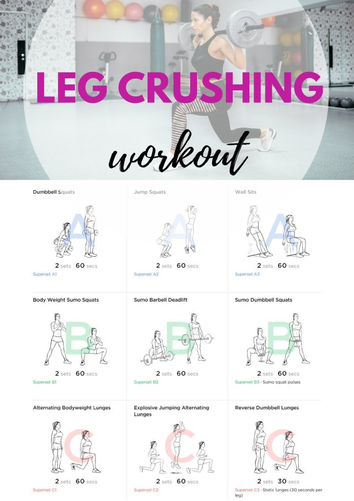 Leg Crushing Workout #legs #hamstrings #glutes #calves #squats #sumo #lunges #compoundmovements #fitness #exercise #getfit #fit #fitfam