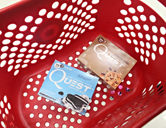 Quest Nutrition protein bars in Target basket